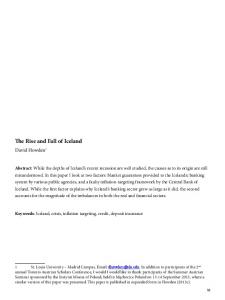 The Rise and Fall of Iceland