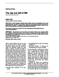 The rise and fall of RM | SpringerLink