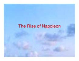 The Rise of Napoleon - Blue Valley School District