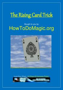 The Rising Card Trick eBook - Learn Free Magic Tricks