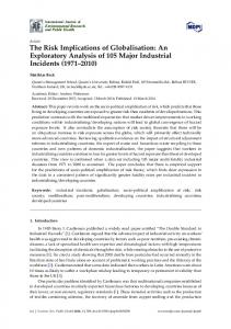 The Risk Implications of Globalisation: An ... - Semantic Scholar