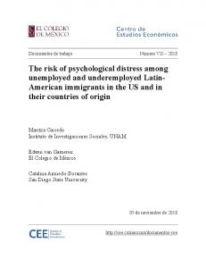 The risk of psychological distress among unemployed