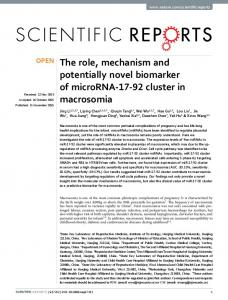The role, mechanism and potentially novel ... - Semantic Scholar