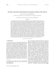 The Role of Advection in Determining the Temperature ... - AMS Journals