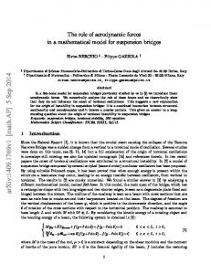 The role of aerodynamic forces in a mathematical model for ...