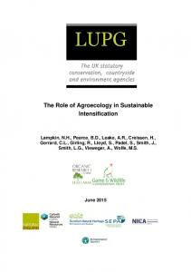 The Role of Agroecology in Sustainable Intensification