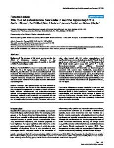 The role of aldosterone blockade in murine lupus ... - Springer Link