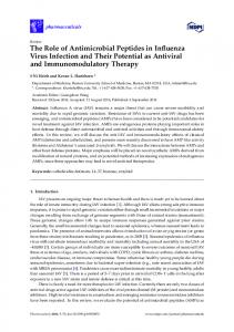 The Role of Antimicrobial Peptides in Influenza Virus Infection - MDPI