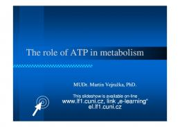 The role of ATP in metabolism