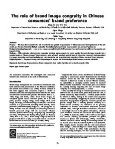 The role of brand image congruity in Chinese consumers' brand ...