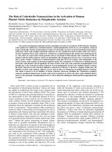 The Role of Calreticulin Transacetylase in the Activation of Human ...