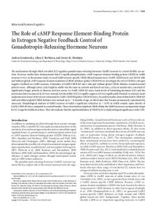 The Role of cAMP Response Element-Binding Protein in Estrogen ...