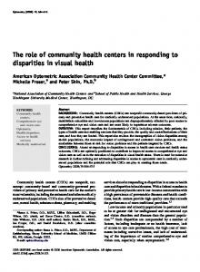 The role of community health centers in ... - Semantic Scholar