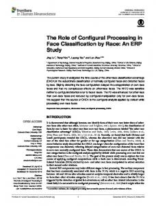 The Role of Configural Processing in Face ... - Semantic Scholar