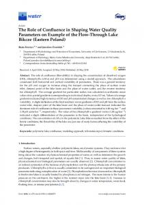 The Role of Confluence in Shaping Water Quality Parameters ... - MDPI