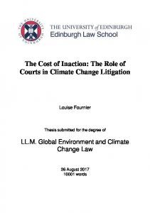 The Role of Courts in Climate Change Litigation