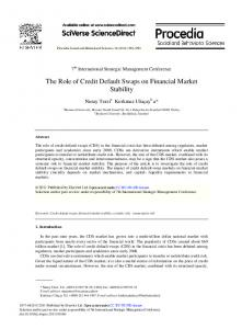 The Role of Credit Default Swaps on Financial Market ... - ScienceDirect