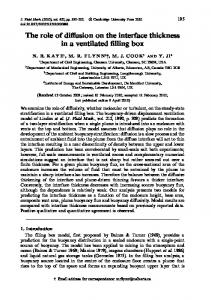 The role of diffusion on the interface thickness in a ... - Semantic Scholar