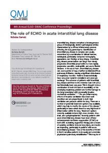The role of ECMO in acute interstitial lung disease - QScience.com