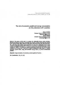 The role of economic growth and energy consumption on CO2
