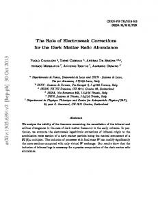 The Role of Electroweak Corrections for the Dark Matter Relic