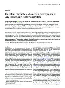 The Role of Epigenetic Mechanisms in the Regulation of Gene ...