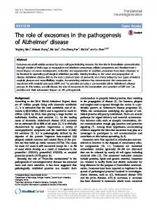 The role of exosomes in the pathogenesis of Alzheimer' disease