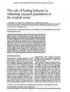 The role of feeding behavior in sustaining copepod ... - Oxford Journals