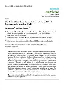 The Role of Functional Foods, Nutraceuticals, and ... - Semantic Scholar