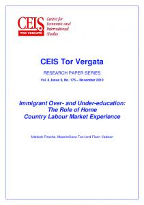 The Role of Home Country Labour Market ... - CEIS Tor Vergata