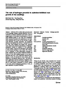 The role of hydrogen peroxide in cadmium-inhibited ... - Springer Link