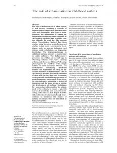 The role of inflammation in childhood asthma - PubMed Central Canada