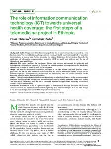 The role of information communication technology (ICT) towards ...