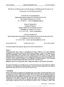 The Role of Information Technology in Fulfilling the ... - SSRN papers