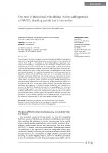 The role of intestinal microbiota in the