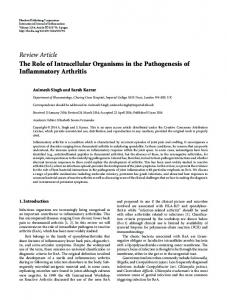 The Role of Intracellular Organisms in the Pathogenesis of ...