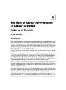 The Role of Labour Administration in Labour Migration