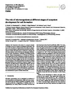 The role of microorganisms at different stages of ... - Biogeosciences