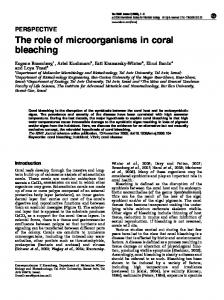 The role of microorganisms in coral bleaching