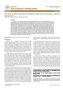 The Role of Microorganisms in Distillery ... - OMICS International
