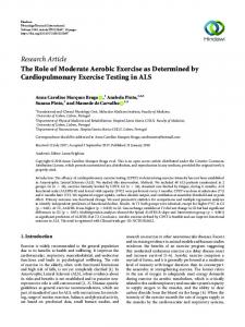 The Role of Moderate Aerobic Exercise as Determined by ...