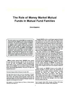 The Role of Money Market Mutual Funds in Mutual ... - SSRN papers