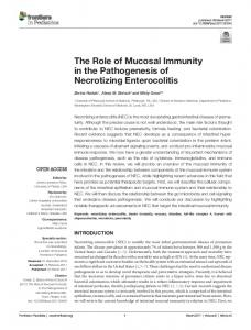 The Role of Mucosal Immunity in the Pathogenesis of ...