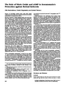 The Role of Nitric Oxide and cGMP in ... - Semantic Scholar