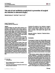 The role of oral antibiotics prophylaxis in prevention of