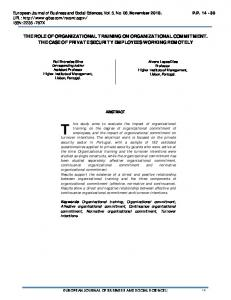 the role of organizational training on organizational commitment. the ...