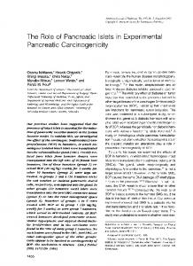 The role of pancreatic islets in experimental pancreatic carcinogenicity.
