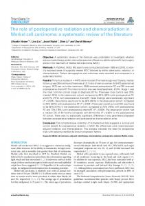 The role of postoperative radiation and chemoradiation in Merkel cell ...
