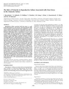 The Role of Prolactin in Reproductive Failure Associated with Heat ...