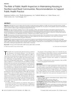 The Role of Public Health Inspectors in Maintaining Housing in